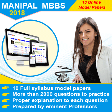 MANIPAL MBBS 2018 Modesl Online